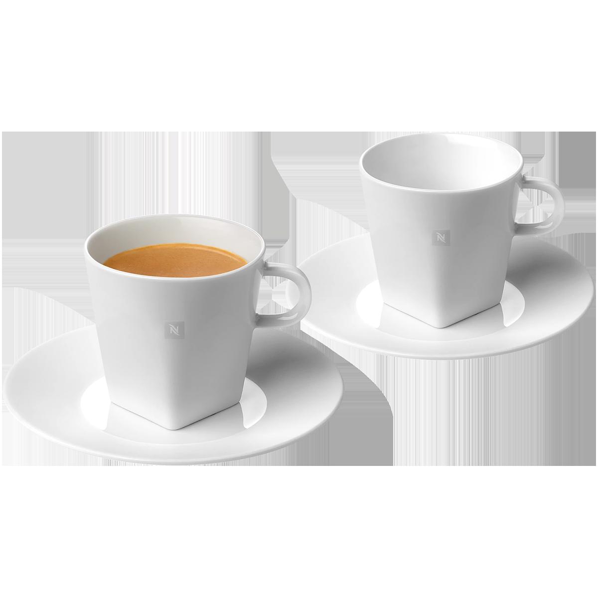 Pure Espresso cups & 2 saucers